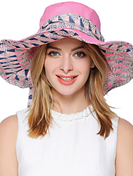 cheap -Women's Cute Party Work Polyester Sun Hat - Striped