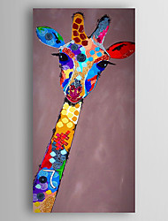 Hand-Painted  Abstract Giraffe Oil Painting With Stretcher For Home Decoration Ready to Hang