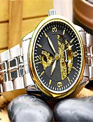 abordables -Hombre Reloj de Moda Cuarzo Gran venta Aleación Banda Casual Plata