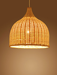 cheap -Japanese Bamboo Rattan Pendant Lights 1-Light Dining Room Living Room Lighting