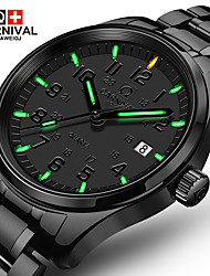 cheap -Carnival Men's Quartz Wrist Watch Casual Watch Stainless Steel Band Luxury Fashion Black