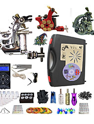 cheap -Professional Tattoo Kit 1 steel machine liner & shader 2 alloy machine liner & shader 3 Tattoo Machine Inks Not Included