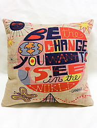 cheap -1 pcs Linen Pillow Case Body Pillow Travel Pillow Sofa Cushion Novelty Pillow,Novelty Graphic Prints Quotes & SayingsTropical