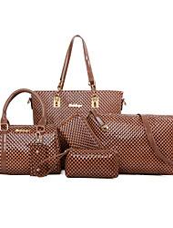 Donna Sacchetti Per tutte le stagioni PU (Poliuretano) sacchetto regola Set di borsa da 6 pezzi Borchie per Matrimonio Serata/evento
