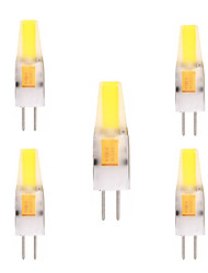 preiswerte -YWXLIGHT® 5 Stück 2W 150-200 lm G4 LED Doppel-Pin Leuchten T 1 Leds COB Dekorativ Warmes Weiß Kühles Weiß Wechselstrom 12V DC 12-24V