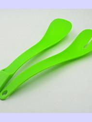 economico -Plastica Forchetta da insalata Cucchiaio da insalata Forchette da insalata Cucchiai da insalata Mestoli per pasta 1 pezzo