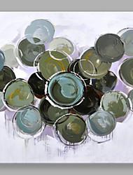 Dipinta a mano Astratto Quadrata,Modern Un Pannello Tela Hang-Dipinto ad olio For Decorazioni per la casa