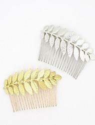 baratos -Liga Flores Pele de cabelo Ferramenta de cabelo Grinaldas Presilha de cabelo 1 Casamento Ocasião Especial Casual Ao ar livre Capacete