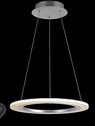 Dimmable Acrylic Ring LED Pendant Light Lamp Indoor Home Deco Lighting Lamps Fixtures for Bedroom Study with Remote Control