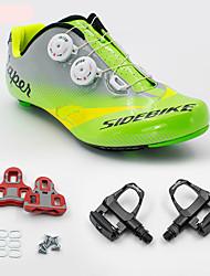 Недорогие -SIDEBIKE Велообувь с педалями и шипами Обувь для шоссейного велосипеда Взрослые Амортизация Дорожный велосипед на открытом воздухе