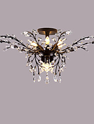 cheap -LightMyself 9 Lights Flush Mount Modern/Contemporary Traditional/Classic Rustic/Lodge Country Antique Brass Feature for Crystal LED MetalLiving Room