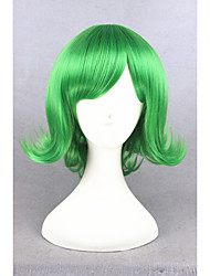 Short Curly Inside Out Disgust Green 14inch Ainme Synthetic Party Cosplay Wigs CS-274C