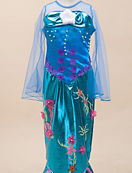 Dresses Inspired by The Little Mermaid Alice Carroll Anime Cosplay Accessories Leotard Tail Blue Terylene