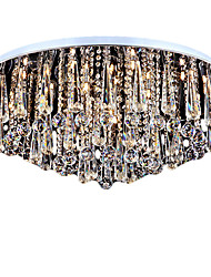cheap -9-Light Flush Mount Ambient Light - Crystal, Mini Style, 110-120V / 220-240V Bulb Not Included / 20-30㎡ / E12 / E14