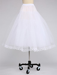 Special Occasion Daily Slips Tulle Netting Tea-Length A-Line Slip With Lace-trimmed bottom
