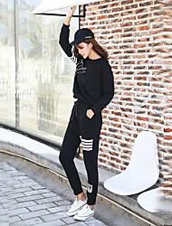 Sign 2016 Hitz was thin letters printed leisure feet harem pants feet Wei pants beam