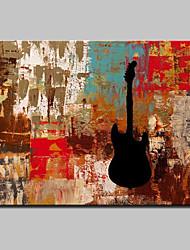 Недорогие -Ручная роспись Абстракция фантазия Горизонтальная,Modern Европейский стиль 1 панель Холст Hang-роспись маслом For Украшение дома