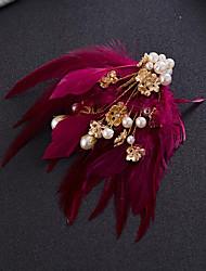 Недорогие -перо зажим для волос головной убор свадебная вечеринка элегантный женственный стиль