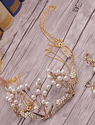 Lega perla di perle della lega-cerimonia nuziale occasione speciale tiaras esterna 1 parte