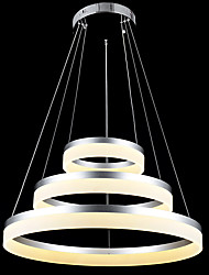 cheap -Round LED Chandelier Lights Lighting Modern Acrylic Lamps Luxurious Three Rings Ceiling Light Fixtures 204060