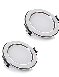 ZDM 2pcs / lot 5W ac wireless 220v dimmerabile downlights bianco caldo / bianco freddo ha condotto la luce del panle per l'illuminazione