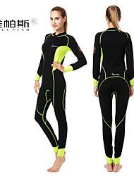 Dive & Sail® Pánské 1mm Mokré obleky Potápěčské Skins Voděodolný neoprén Diving Suit Dlouhé rukávy Sady oblečení/Obleky-Plavání Potápění