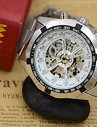 cheap -Men's Fashion Watch Quartz Alloy Band Casual Silver Automatic mechanical watch