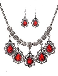 cheap -Women's Jewelry Set Rhinestone Pendant Fashion Party Daily Casual Rhinestone Alloy Line 1 Necklace 1 Pair of Earrings
