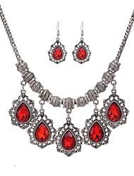 economico -Da donna Set di gioielli Strass Di tendenza Feste Quotidiano Casual Strass Lega Lineare 1 collana 1 paio di orecchini
