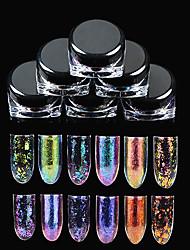 Недорогие -6色 Декор для нейл-арта горный хрусталь жемчуг макияж Косметические Ногтевой дизайн