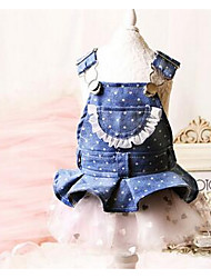 Dog Dress Dog Clothes Cute Casual/Daily Princess Blue