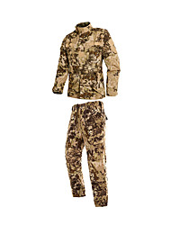 cheap -Hunting Jacket with Pants Men's / Women's / Unisex Breathable / Comfortable Camouflage Clothing Suit Long Sleeve for Hunting