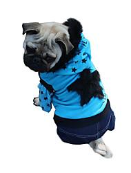 Perro Abrigos Saco y Capucha Ropa para Perro Casual/Diario Moda Estrellas Azul Rosa Disfraz Para mascotas