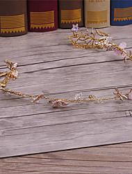 Lega d'imitazione del tessuto della perla headpiece-cerimonia nuziale occasione occasionale delle corone 1 parte