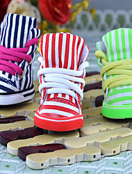 Cat Dog Shoes & Boots Classic Cute Birthday Casual/Daily Reversible Sports Wedding Fashion Stripe Red Green Blue For Pets