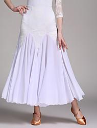 cheap -Ballroom Dance Tutus & Skirts Women's Performance Chiffon Satin Lace Milk Fiber Splicing 1 Piece Natural Skirt