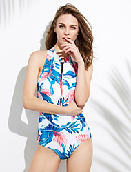 cheap -Women's Halter One-piece - Floral