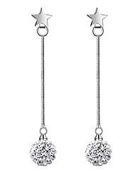 Boucles d'oreille goutte Perle imitée Imitation de perle Zircon Forme de Ligne Blanc Argenté Bijoux Mariage Soirée Quotidien Décontracté1