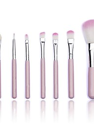 7Pcs Professional Pink Makeup Brushes Tool Soft Cosmetics Powder Eyeshadow Set