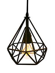 Недорогие -старинный черный алмаз форма металлический лофт подвеска огни гостиная столовая прихожая кафе бары одежда магазин украшения свет