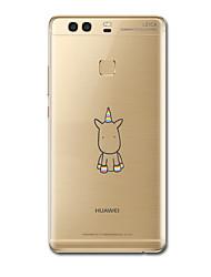 preiswerte -Hülle Für Huawei P9 / Huawei P9 Lite / Huawei P8 Ultra dünn / Muster Rückseite Einhorn Weich TPU für Huawei P9 Plus / Huawei P9 Lite / Huawei P9