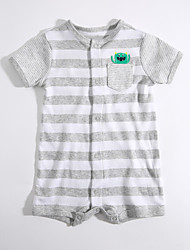 cheap -Baby Boys' Daily Striped One-Pieces, Cotton Summer Short Sleeves Gray