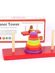 Blocos de Construir Brinquedo Educativo Blocos Lógicos Brinquedos Forma Cilindrica Torre Peças Crianças Dom