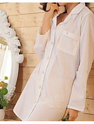 Women's Suits Nightwear,Print Solid-Thick Cotton