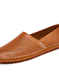 Men's Loafers & Slip-Ons Comfort Leather Nappa Leather Spring Fall Outdoor Athletic Casual Flat Heel Light Brown Pool Yellow Black White