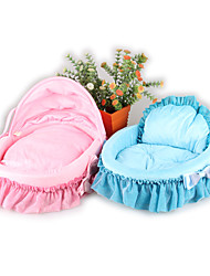 cheap -Soft Dog Clothes Bed Solid Colored Blue Pink Cat Dog