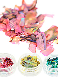 cheap -1 Bottle New Colorful Nail Art Shinning Paillette Decoration Pink Green Yellow Nail Abalone Paillette Design Nail DIY Nail Beauty Decoration BY01-03