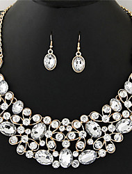 cheap -Women's Crystal Jewelry Set - Crystal, Rhinestone Vintage, Fashion, Euramerican Include Necklace / Earrings Rainbow / Light Yellow / Red For Wedding Party Special Occasion