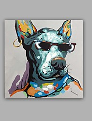 cheap -Oil Painting Hand Painted - Pop Art Classic / Modern Canvas / Stretched Canvas