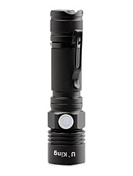 preiswerte -U'King LED Taschenlampen LED lm 3 Modus Cree XP-E R2 einstellbarer Fokus Kompakte Größe Klammer Größe S Camping / Wandern / Erkundungen
